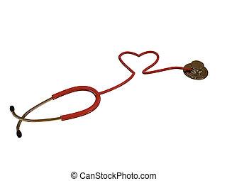 stethoscope hearth shaped