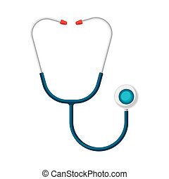 Stethoscope icon in flat style.