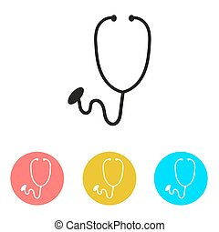 Stethoscope Icon. Medical theme.