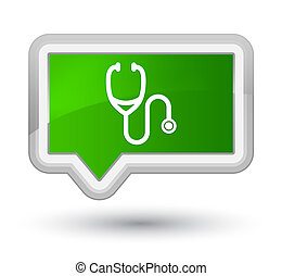 Stethoscope icon prime green banner button