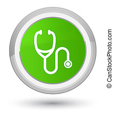 Stethoscope icon prime soft green round button