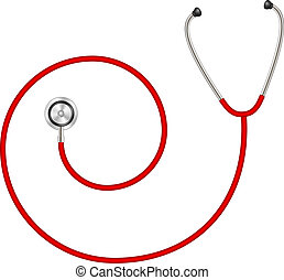 Stethoscope in shape of spiral