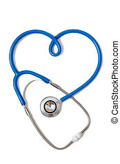 Stethoscope in the form of heart sign