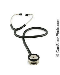 stethoscope isolated on white background vertical