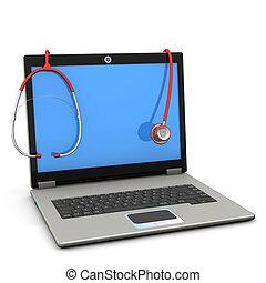 Stethoscope Laptop