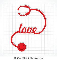 Stethoscope make love word