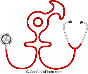 Stethoscope male and female symbol