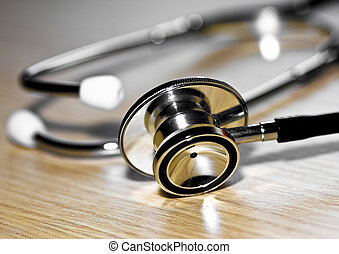 stethoscope medic tool fine close up image background