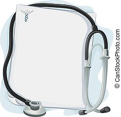 Stethoscope Medical Prescription Frame