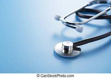 Stethoscope on a blue background