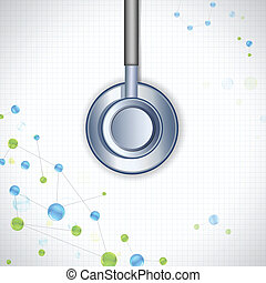 Stethoscope on Medical Background