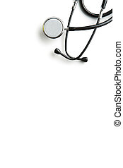 Stethoscope on white background.