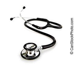 stethoscope, op wit