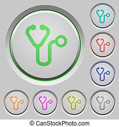 Stethoscope push buttons