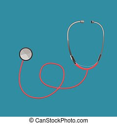 Stethoscope Red Doctor Tool Medical