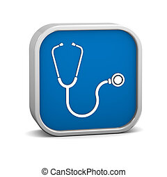Stethoscope Sign on a white background. part of a series.