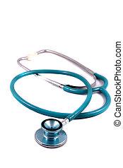 stethoscope - Medical stethoscope on a white background.