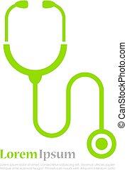 Stethoscope vector logo