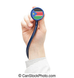Stethoscope with flag series - South Sudan - Stethoscope...