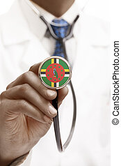 Stethoscope with national flag conceptual series - Dominica