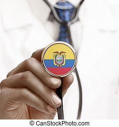 Stethoscope with national flag conceptual series - Ecuador