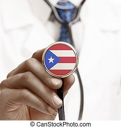 Stethoscope with national flag conceptual series - Puerto...