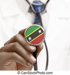 Stethoscope with national flag conceptual series - Saint Kitts a