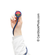 Stethoscope with national flag series - Angola