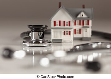 Stethoscope with Small Model Home