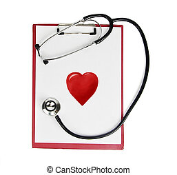 stethoscope,clipboard,heart