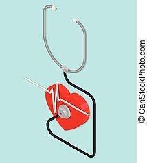 stethoskop, heart.