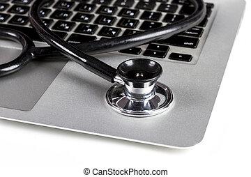stethoskop, laptop