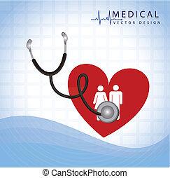 stetoscopio, esaminare