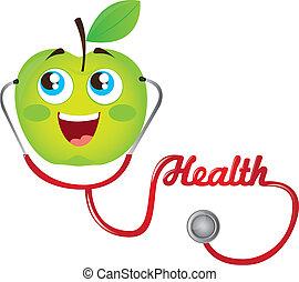 stetoscopio, mela