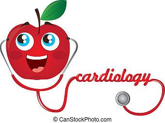 stetoskop, äpple