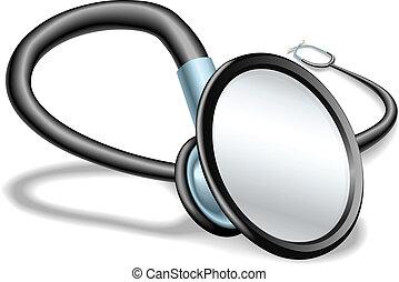 stetoskop, illustration