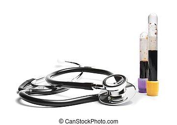 stetoskop, nær, medicinsk