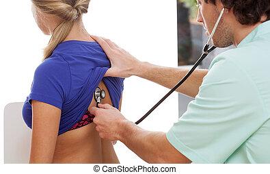 stetoskop, sprawdzać