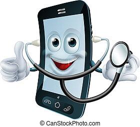 stetoskop, telefon, litera, rysunek, dzierżawa
