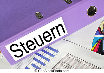STEUERN folder on a market report