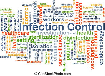 steuerung, begriff, infektion, hintergrund