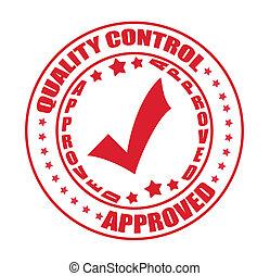 steuerung, briefmarke, qualität, genehmigt