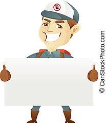 steuerung, service, zeichen, plage, besitz, leer