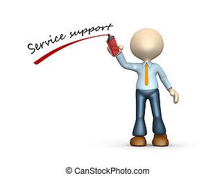 steun, dienst
