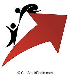 steun, succes, pictogram