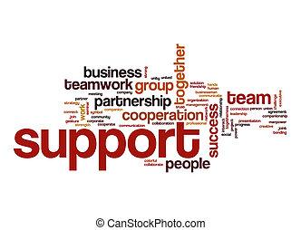 steun, woord, wolk