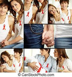 steunen, aids, campagne