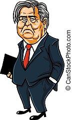 Steve Bannon Cartoon Caricature Portrait Vector