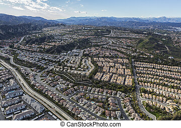 Stevenson Ranch Aerial in Southern California