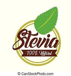 Stevia natural sweetener icon vector illustration design graphic